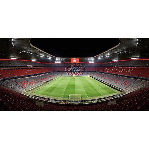 Fototapete FCB Stadion bei Nacht mehrfarbig
