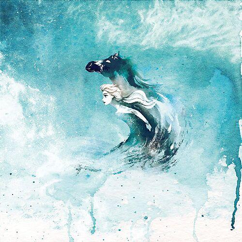 KOMAR Vlies Fototapete - Disney Frozen Spirit Of Wonder, 250x250 cm