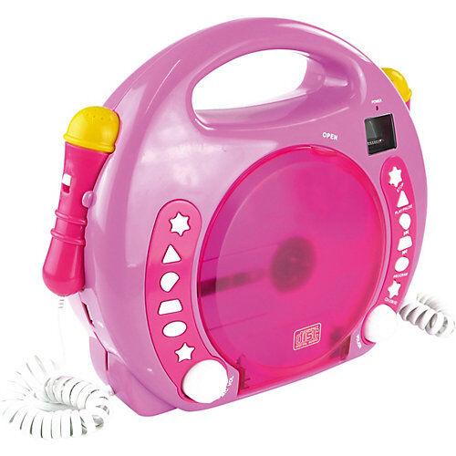 X4-TECH Kinder CD-Player Bobby Joey inkl. USB / MP3 und Mikrofone, Pink pink