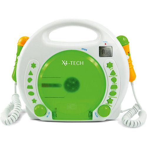 X4-TECH Kinder CD-Player Bobby Joey mit Akku, USB / MP3 und Mikrofone