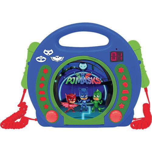LEXIBOOK PJ Masks Kinder CD-Player mit 2 Mikrofonen blau/grün