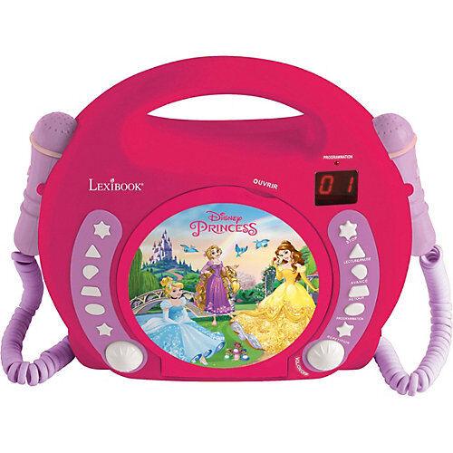 LEXIBOOK Disney Princess Kinder CD-Player mit 2 Mikrofonen pink