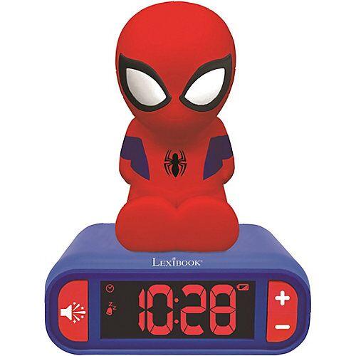 LEXIBOOK 3D Spiderman Design Nachtlicht Digital Radiowecker schwarz/rot