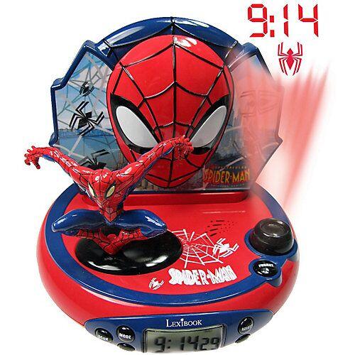 LEXIBOOK Spider-Man Radiowecker mit Projektion und Nachtlicht rot