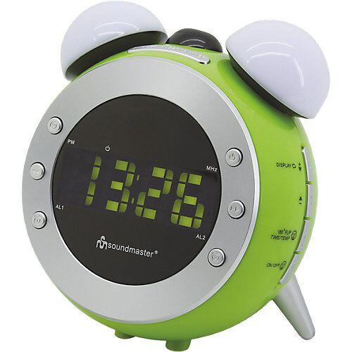 Soundmaster Radiowecker mit Projektion + Nachtlicht UR140GR, grün grün/weiß