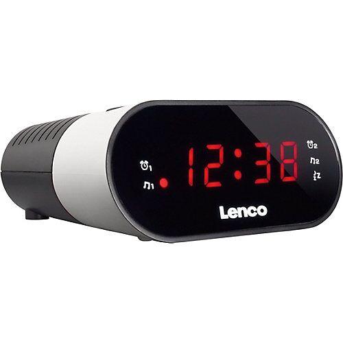 Lenco CR-07 weiß - FM-Radiowecker mit Sleeptimer und Dual-Alarm