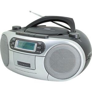 Soundmaster CD Player mit DAB+ Radio und Kassettenspieler, grau