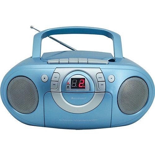 Soundmaster Radio-Kassettenspieler mit CD-Spieler blau