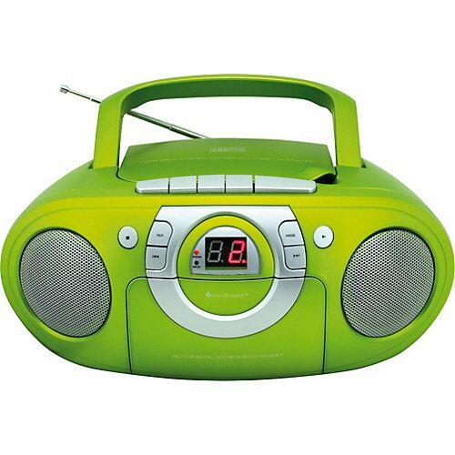 Soundmaster Radio-Kassettenspieler mit CD-Spieler grün