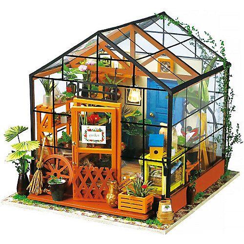 Cathy's Flower House - 3D-Holzpuzzle Miniaturhaus-Bastelset, 231 Teile bunt