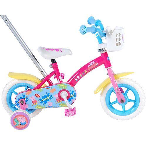 Volare Peppa Pig Kinderfahrrad - Mädchen - 10 Zoll - Pink / Blau rosa