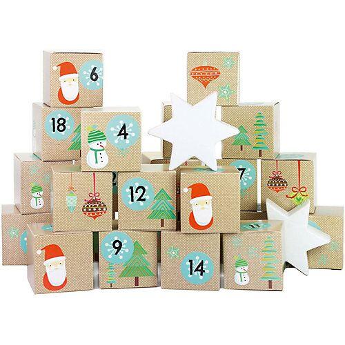 PAPIERDRACHEN Adventskalender Kisten bedruckt - Weihnachtsmann