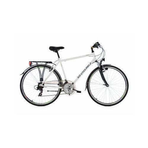 KS Cycling 28  Zoll Trekkingrad Herrenfahrrad Vegas 21 Gänge Trekkingräder, Rahmenhöhe: 58 cm weiß