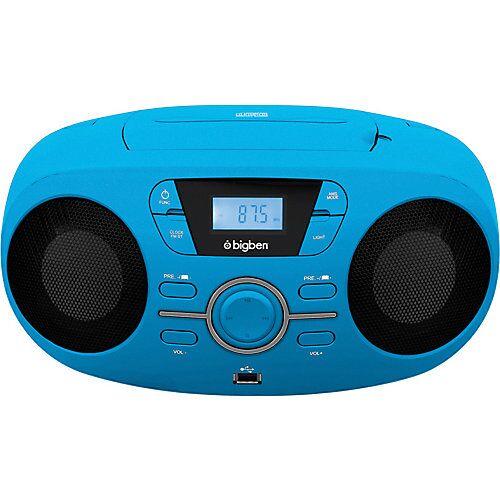 bigben Tragbares CD/Radio CD61 USB, blau