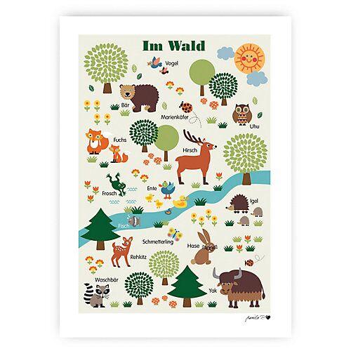 byGraziela Poster, Im Wald, 50 x 70 cm grün