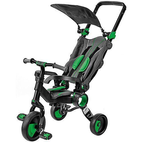 Dreirad faltbar schwarz-grün