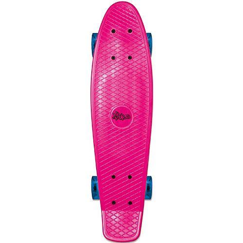 No Rules Skateboard fun, pink mit Leuchtrollen