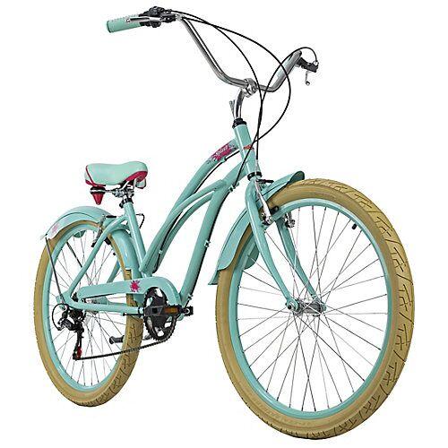 KS Cycling Beachcruiser 26 Zoll Splash 6 Gänge grün Beachcruiser, Rahmenhöhe: