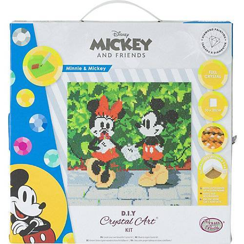 CRAFT Buddy Crystal Art Disney Minnie and Mickey, 30 x 30 cm Kristallkunst-Kit