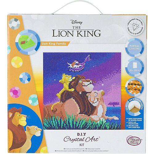 CRAFT Buddy Crystal Art Disney König der Löwen - Lion King Family, 30 x 30 cm Kristallkunst-Kit