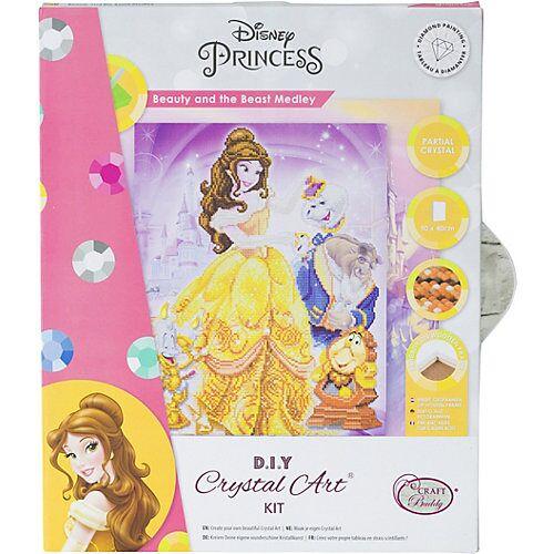 CRAFT Buddy Crystal Art Disney Beauty and the Beast Medley, 40 x 50 cm Kristallkunst-Kit