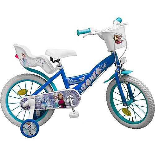 Toimsa Bikes Fahrrad 16 Zoll Disney Eiskönigin blau/weiß