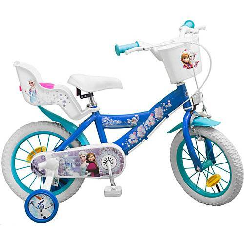 Toimsa Bikes Fahrrad 14 Zoll Disney Eiskönigin blau/weiß