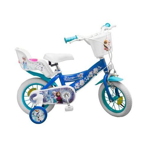 Toimsa Bikes Fahrrad 12 Zoll Disney Eiskönigin blau/weiß