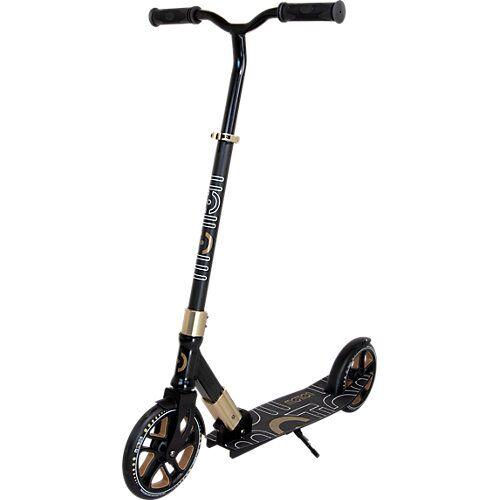 Scooter Speedy, 200 mm Rollen, schwarz/gold