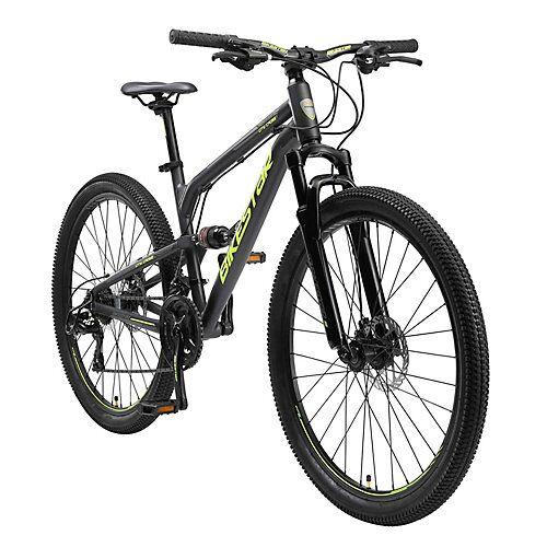 bikestar Fahrrad Fully 26 Zoll Alu MTB schwarz