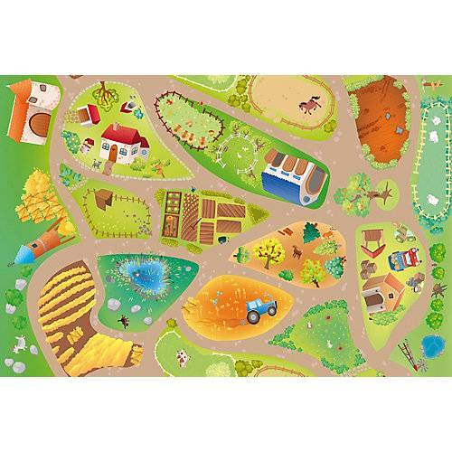 ACHOKA® V-MAT -100x150 Spielmatte Farm bunt