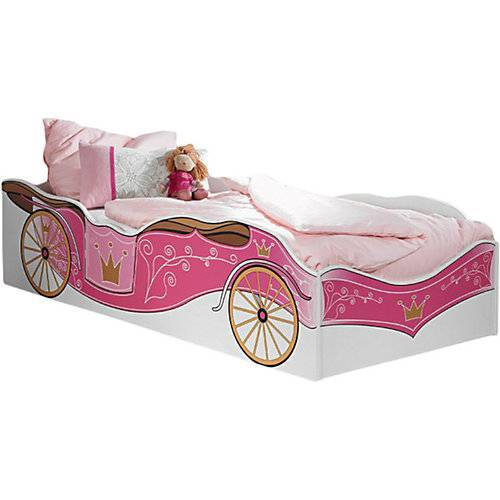 Kinderbett Zoe Kutschenmotiv  Rosa/Pink 90x200 rosa/pink