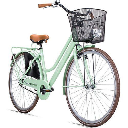Bergsteiger Fahrrad Jugendfahrrad Amsterdam 28 Zoll, grün