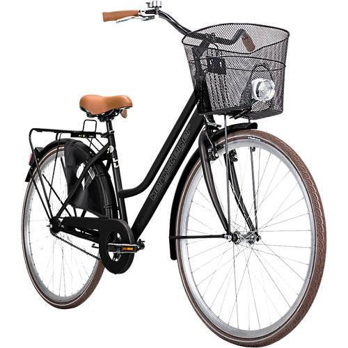 Bergsteiger Fahrrad Jugendfahrrad Amsterdam 28 Zoll, schwarz