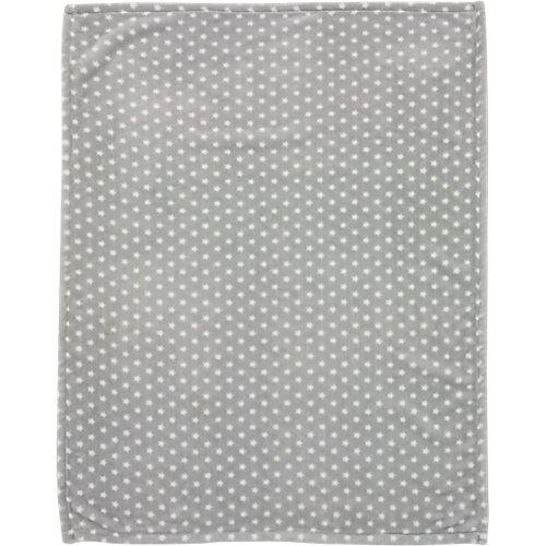 Alvi Babydecke mit UV-Schutz, Microfaser, Stars silber, 75 x 100 cm