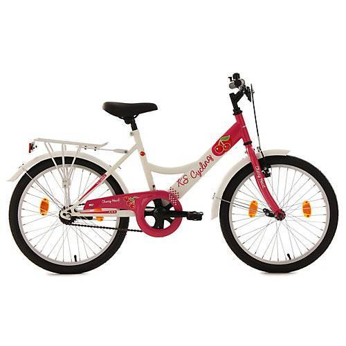 KS Cycling Kinderfahrrad Mädchenfahrrad Cherry Heart 20 Zoll Fahrräder, Rahmenhöhe: 36 cm weiß