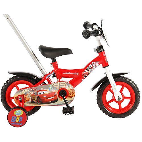 Volare Disney Cars Kinderfahrrad - Jungen - 10 Zoll - Rot rot