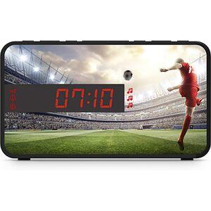 bigben Kids Wecker R16 - Soccer, inkl. 3 Frontblenden