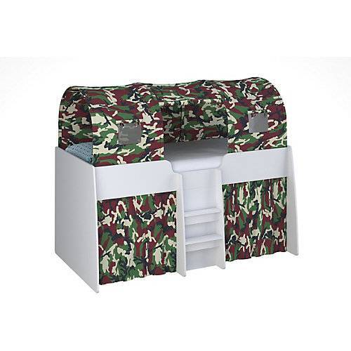 Polini-kids Tunnel Hochbett Polini Simple 4100, camouflage, 1592.3  Kinder