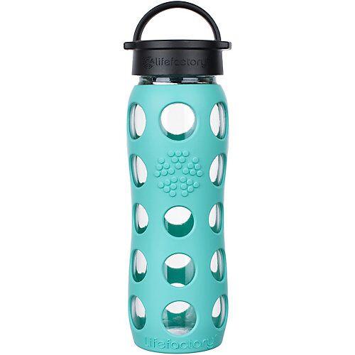 Lifefactory Glas-Trinkflasche, Classic Cap, sea green, 650ml türkis