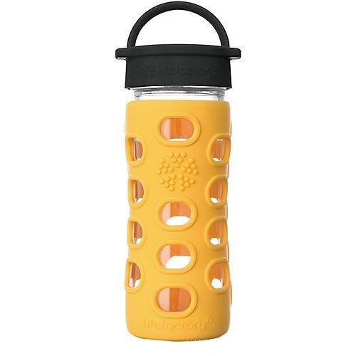 Lifefactory Glas-Trinkflasche, Classic Cap, marigold, 350ml gelb