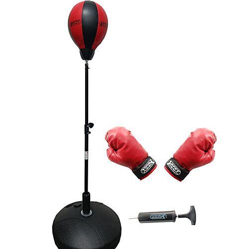 Best Sporting Box-Set: Punchingball, Boxhandschuhen & Minipumpe schwarz/rot