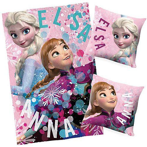 Disney Dieeiskoenigin Die Eiskönigin Decke & Kissen Set