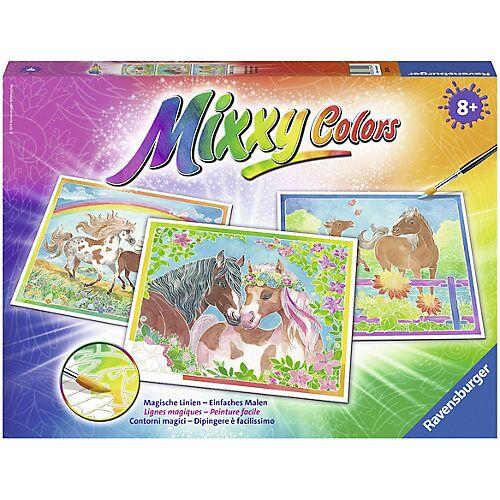 Ravensburger 3er-Set Malset Mixxy Colors, 30x24 cm, Märchenhafte Ponys