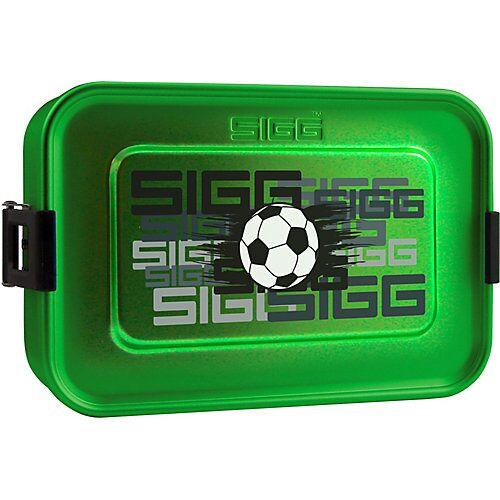 SIGG Alu-Brotdose Fußball grün