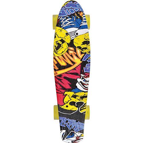 Schildkröt Retro Skateboard Free Spirit Party bunt