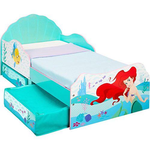 WORLDS APART Kinderbett mit 2 Ablageboxen, Disney Princess Ariel, 70 x 140 cm