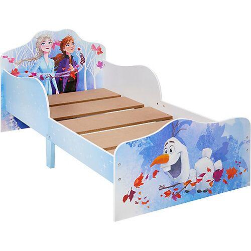 WORLDS APART Kinderbett mit 2 Ablageboxen mit Reißverschluss, Disney Frozen 2 Kinderbett, 70 x 140 cm