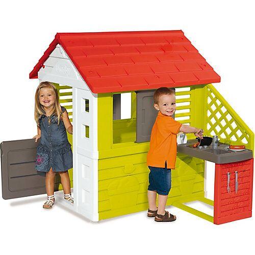 Smoby Natur Haus mit Sommerküche bunt