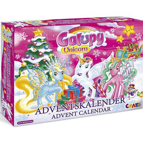 CRAZE Adventskalender Galupy Unicorn 41 x 32,5 x 6,2cm